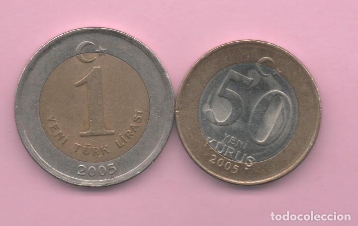 TURQUIA = 50 KURUS + 1 LIRA 2005 (Numismática - Extranjeras - África)