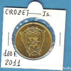 Monedas antiguas de África: CROZET: 100 FRANCS 2011. LATON. Lote 194727197