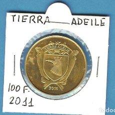 Monedas antiguas de África: ADEILE: 100 FRANCS 2011. LATON. Lote 194728201
