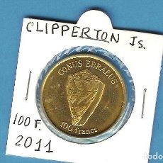 Monedas antiguas de África: ISLAS CLIPPERTON. 100 FRANCS 2011. LATON. Lote 194738961