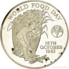 Monedas antiguas de África: MONEDA, MAURICIO, 10 RUPEES, 1981, PROOF, SC, PLATA, KM:48. Lote 194743563