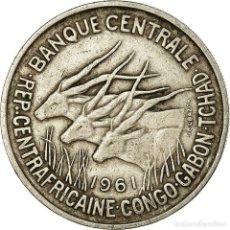 Monedas antiguas de África: MONEDA, ESTADOS AFRICANOS ECUATORIALES, 50 FRANCS, 1961, PARIS, MBC, COBRE -. Lote 194743665