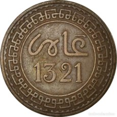 Monedas antiguas de África: MONEDA, MARRUECOS, 'ABD AL-AZIZ, 5 MAZUNAS, 1321, PARIS, MBC, BRONCE, KM:16.3. Lote 194744173