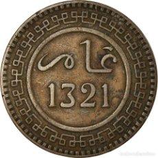 Monedas antiguas de África: MONEDA, MARRUECOS, 'ABD AL-AZIZ, 10 MAZUNAS, 1321, PARIS, MBC, BRONCE, KM:17.1. Lote 194744232