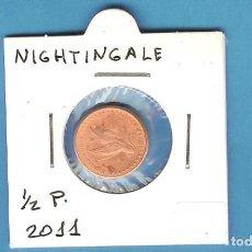Monedas antiguas de África: NIGHTINGALE.. 1/2 PENNY 2011. Lote 194769417