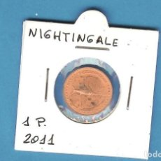 Monedas antiguas de África: NIGHTINGALE.. 1 PENNY 2011. Lote 194770735