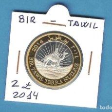 Monedas antiguas de África: BIR TAWIL. 2 POUND 2014. BIMETÁLICA. Lote 194774746