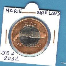 Monedas antiguas de África: MARIE BIRD LAND. 50 CENT (1/2 DOLLAR) 2012. BIMETÁLICA. Lote 194776106