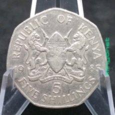 Monedas antiguas de África: MONEDA 5 SCHILLINGS KENYA 1985 - CHELINES KENIA. Lote 194884516