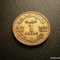 Monedas antiguas de África: MARRUECOS 1 FRANCO 1945. Lote 194982347
