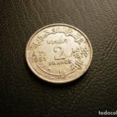Monedas antiguas de África: MARRUECOS 2 FRANCOS 1951. Lote 194982382