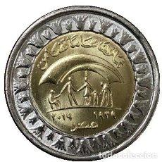 Monedas antiguas de África: EGIPTO 1 POUND 2019.- 80 AÑOS DE SOLIDARIDAD. Lote 194984166