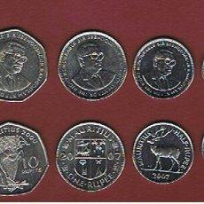 Monedas antiguas de África: MAURICIO :2000/07. ( SET DE 6 ) SC.UNC.. Lote 195000237