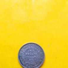 Monedas antiguas de África: MONEDA 100 FRANCOS PLATA MARRUECOS. Lote 195000242