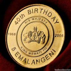 Monedas antiguas de África: S/C CONMEM. SUAZILANDIA 5 EMALANGENI 2008. Lote 195054952