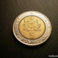 Monedas antiguas de África: MARRUECOS 5 DIRAHMS 1987. Lote 195140081