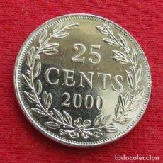 Monedas antiguas de África: LIBERIA 25 CENTS 2000 UNC. Lote 195154167