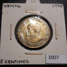 Monedas antiguas de África: KENYA 5 CÉNTIMOS 1970. Lote 195242562