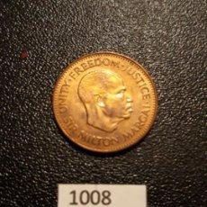 Monedas antiguas de África: SIERRA LEONA 1/2 CENTIMO 1964. Lote 195242605