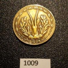 Monedas antiguas de África: ÁFRICA OCCIDENTAL FRANCESA 10 FRANCOS 1968. Lote 195242688