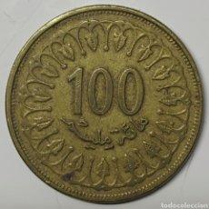 Moedas antigas de África: MONEDA TÚNEZ, 100 MILLIMES 1997. Lote 195338670