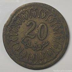 Moedas antigas de África: MONEDA TÚNEZ, 20 MILLIMES 1960. Lote 195419162