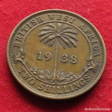 Monedas antiguas de África: ÁFRICA OCCIDENTAL BRITÁNICA 2 SHILLING 1938 KN BRITISH WEST AFRICA OESTE. Lote 195421206