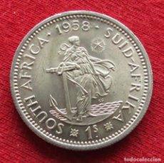 Monedas antiguas de África: SUDÁFRICA RSA 1 SHILLING 1958. Lote 195432541
