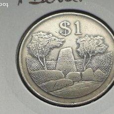 Monedas antiguas de África: ZIMBABUE/ZIMBABWE 1 DOLAR 1980. Lote 195496450