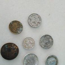 Monedas antiguas de África: LOTE MONEDA FRANCO MARROQUÍ. ALGUNA MUY RARA Y OTRAS UTILIZADA COMO COLGANTE GUERRA DEL RIF. . Lote 195697882