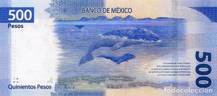 2019 UNC Mexico 500 Pesos 2018 Benito Juarez // Whales