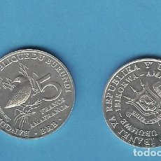 Monedas antiguas de África: BURUNDI. 5 FRANCS 2014. SERIE AVES. SOLOTRHURA ELEGANS. ALUMINIO. Lote 196788763