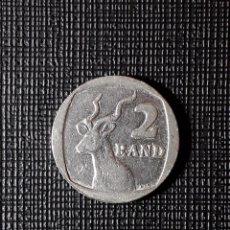 Monedas antiguas de África: SUDÁFRICA 2 RAND 1990 KM139. Lote 196940308