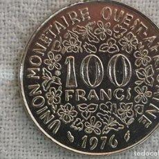 Monedas antiguas de África: WEST AFRICA STATES - 100 FRANCS 1976 - SC/BU. Lote 197367461