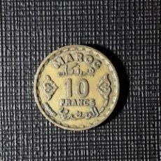 Monedas antiguas de África: MARRUECOS 10 FRANCOS 1371 (1952) Y49.. Lote 197491035