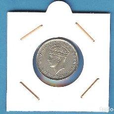 Monedas antiguas de África: PLATA-EAST AFRICA. 50 CENT 1937. 3,89 GRAMOS DE LEY 0,250. MBC. Lote 197637331