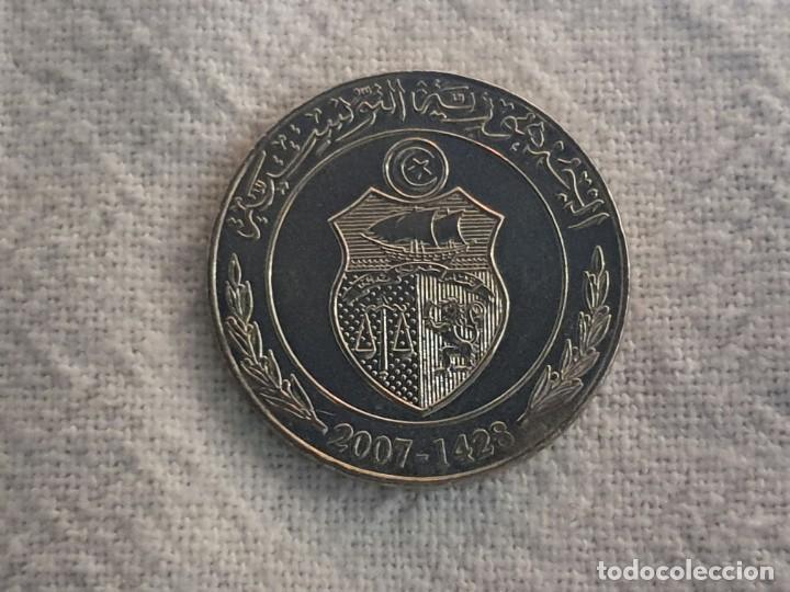 Monedas antiguas de África: Tunisia - 1 dinar 2007 - F.A.O. - SC/BU - Foto 5 - 197869487