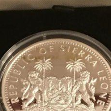 Monedas antiguas de África: MONEDA 10 DÓLARES DE PLATA REP. SIERRA LEONA (SIN USAR) CON CERTIFICADO.. Lote 198169326