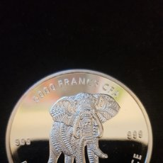 Monedas antiguas de África: MONEDA 1 ONZAS PLATA PURA. EL CHAD. 2019. Lote 198496028