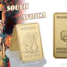 Monedas antiguas de África: AFRICA LINGOTE ORO 24 KILATES 46 GRAMOS ( HOMENAJE A LA GACELA Y ELEFANTE AFRICANO ) Nº5. Lote 198878863