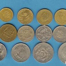 Monedas antiguas de África: MARRUECOS 16 MONEDAS DE 16 MODELOS DIFERENTES. Lote 199201563