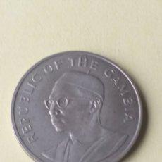 Monedas antiguas de África: GAMBIA 10 DALASIS DE PLATA 1975. Lote 199376588