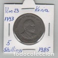 Monedas antiguas de África: MONEDA KENIA 5 SHILLINGS 1985. Lote 199622372