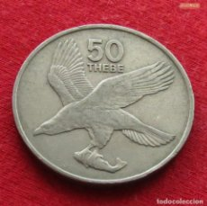 Monedas antiguas de África: BOTSWANA BOTSUANA 50 THEBE 1977 KM# 7 PÁSSARO *CD. Lote 201683023