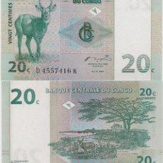Monedas antiguas de África: CONGO - 20 CENTIMES DE 01.11.1997 - S / C - MIRE MIS OTROS LOTES Y AHORRE GASTOS DE ENVÍO. Lote 201731243