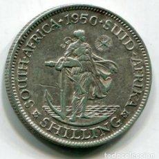 Monedas antiguas de África: SUDAFRICA - 1 CHELIN DE PLATA 1950. Lote 201758096