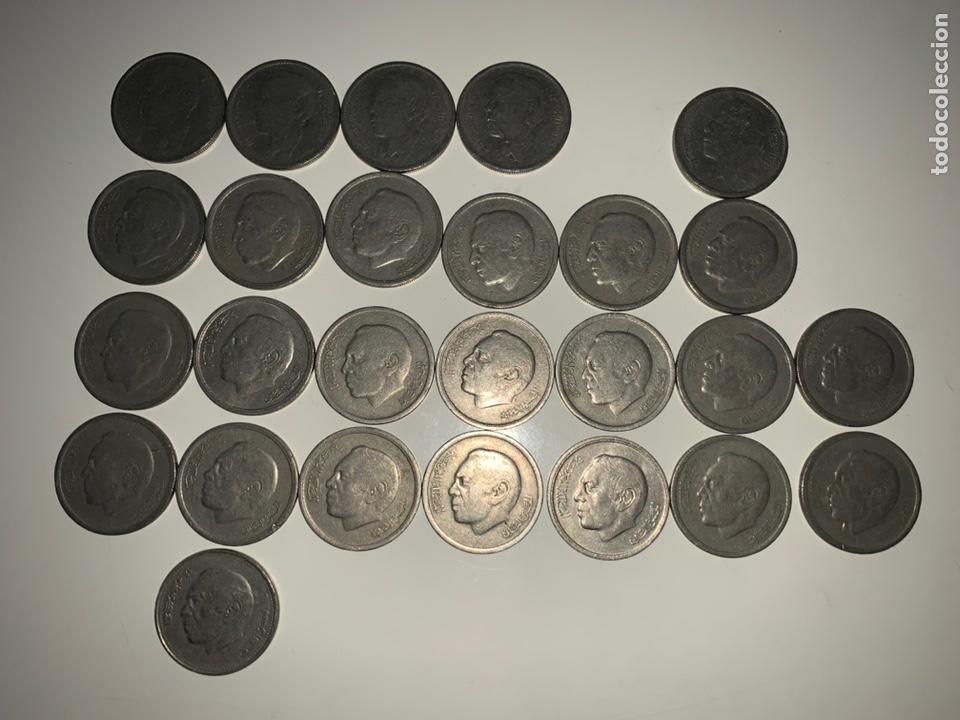 Monedas antiguas de África: Lote 26 monedas 1 dirham Marruecos 1965-1969-1974-1987 - Foto 2 - 202880876