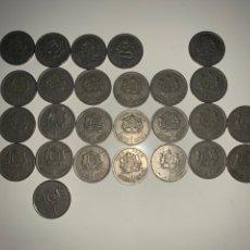 Monedas antiguas de África: LOTE 26 MONEDAS 1 DIRHAM MARRUECOS 1965-1969-1974-1987. Lote 202880876