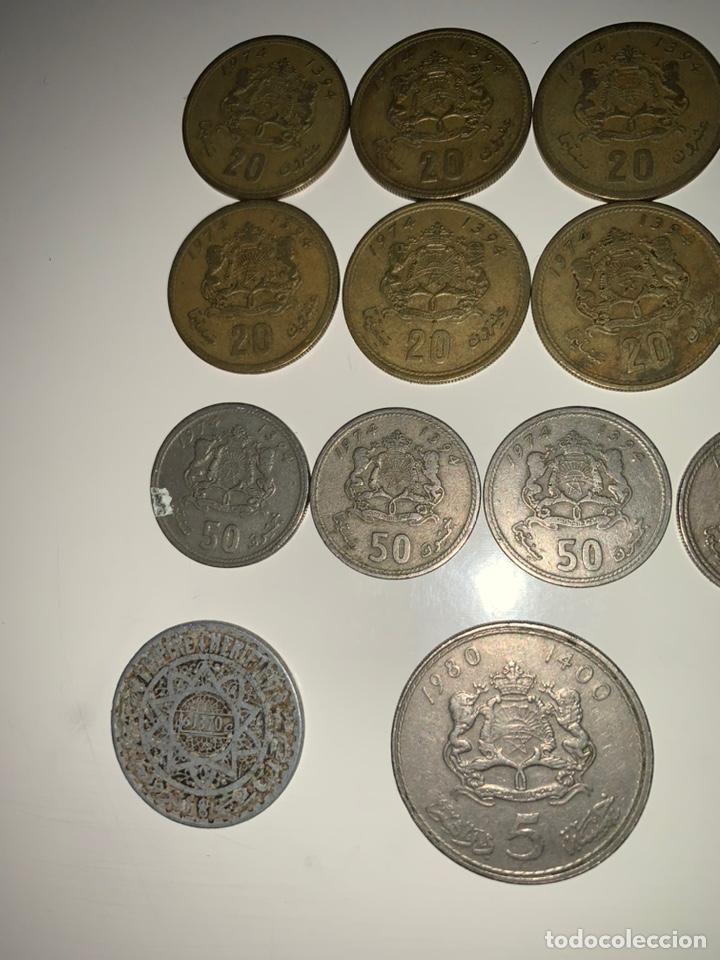 Monedas antiguas de África: Lote 19 monedas dirham francs Marruecos - Foto 2 - 202884282