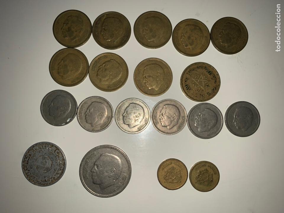 Monedas antiguas de África: Lote 19 monedas dirham francs Marruecos - Foto 4 - 202884282